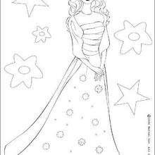 Barbie Gala - Dibujos para Colorear y Pintar - Dibujos para colorear PERSONAJES - PERSONAJES ANIME para colorear - Dibujos BARBIE para colorear - Dibujos de BARBIE para imprimir