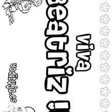 BEATRIZ colorear nombre niña - Dibujos para Colorear y Pintar - Dibujos para colorear NOMBRES - Dibujos para colorear NOMBRES NIÑAS