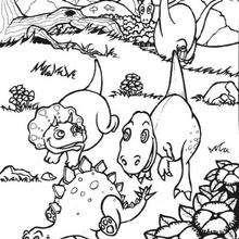 Dibujo bebes triceratops - Dibujos para Colorear y Pintar - Dibujos para colorear ANIMALES - Dibujos para colorear DINOSAURIOS - Pintar dinosaurio TRICERATOPS