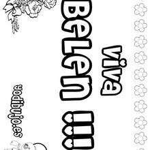 BELEN colorear nombre niña - Dibujos para Colorear y Pintar - Dibujos para colorear NOMBRES - Dibujos para colorear NOMBRES NIÑAS