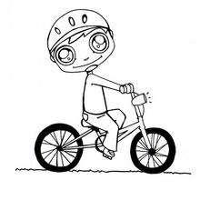 Dibujo para colorear : Bici
