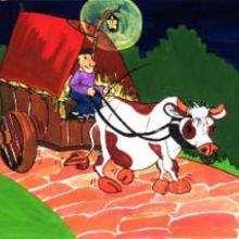 El buey y su carreta - Dibujar Dibujos - Imagenes para niños - Imagenes ANIMALES