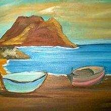 La orilla del mar - Dibujar Dibujos - Dibujos de NIÑOS - Dibujos de la NATURALEZA