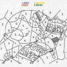 Juego de colorear CEPILLO DE DIENTES - Juegos divertidos - Juegos para IMPRIMIR - Juegos de PINTAR - Juegos de pintar PARA NIÑOS