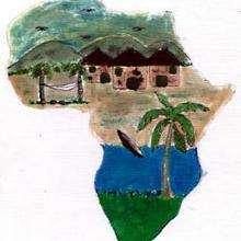 Ilustración : Chozas en Camerún