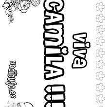 CAMILA colorear nombre niña - Dibujos para Colorear y Pintar - Dibujos para colorear NOMBRES - Dibujos para colorear NOMBRES NIÑAS