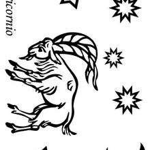 Capricornio - Dibujos para Colorear y Pintar - Dibujos infantiles para colorear - Signos del Zodiaco para colorear
