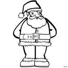 Dibujo para colorear el Papá Noel - Dibujos para Colorear y Pintar - Dibujos para colorear FIESTAS - Dibujos para colorear de NAVIDAD - Dibujos para colorear de PAPA NOEL - Dibujos para colorear PAPA NOEL online