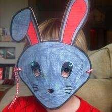 Ilustración : Imagen mascara conejo carnaval