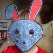 Imagen mascara conejo carnaval