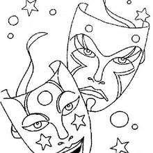Dibujo para colorear : Máscaras galácticas