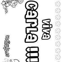 CARLA colorear nombre niña - Dibujos para Colorear y Pintar - Dibujos para colorear NOMBRES - Dibujos para colorear NOMBRES NIÑAS