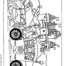 Carroza - Dibujos para Colorear y Pintar - Dibujos para colorear ANIMALES - Colorear CABALLOS - Dibujos de CABALLOS para colorear e imprimir