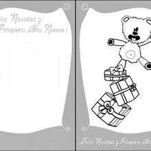 Tarjeta para Navidad, ositos de felpa - Manualidades para niños - Manualidades NAVIDEÑAS - TARJETAS DE NAVIDAD para imprimir - Tarjetas navideñas REGALOS DE NAVIDAD