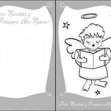 Tarjeta para Navidad, angelito