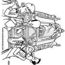 Flauta, clarinete y saxo en Ildefonso - Dibujos para Colorear y Pintar - Dibujos infantiles para colorear - Instrumentos de Música: dibujos para colorear