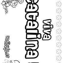 CATALINA colorear nombre niña - Dibujos para Colorear y Pintar - Dibujos para colorear NOMBRES - Dibujos para colorear NOMBRES NIÑAS