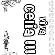Nombre de niña para pintar : CELIA