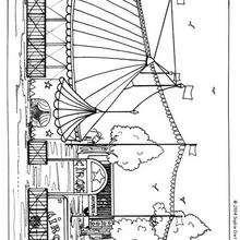 Dibujo para colorear : carpa de circo