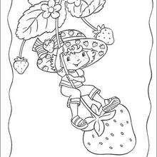 Las fresas de Tarta de Fresa - Dibujos para Colorear y Pintar - Dibujos para colorear PERSONAJES - PERSONAJES ANIME para colorear - Tarta de fresa para colorear