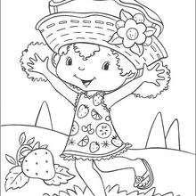 Flori Naranja feliz - Dibujos para Colorear y Pintar - Dibujos para colorear PERSONAJES - PERSONAJES ANIME para colorear - Tarta de fresa para colorear