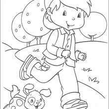 Toni Mermelada con Rody - Dibujos para Colorear y Pintar - Dibujos para colorear PERSONAJES - PERSONAJES ANIME para colorear - Tarta de fresa para colorear