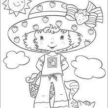 Tarta de Fresa con Cremita - Dibujos para Colorear y Pintar - Dibujos para colorear PERSONAJES - PERSONAJES ANIME para colorear - Tarta de fresa para colorear