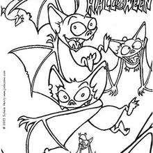 Murciélagos - Dibujos para Colorear y Pintar - Dibujos para colorear FIESTAS - Dibujos para colorear HALLOWEEN - Dibujos para colorear MURCIELAGOS HALLOWEEN