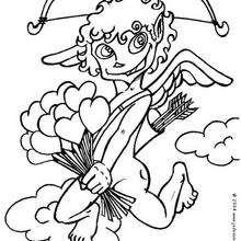 Dibujo para colorear CUPIDO Y SU FLECHAZO - Dibujos para Colorear y Pintar - Dibujos para colorear FIESTAS - Dibujos para colorear SAN VALENTIN - Dibujo para colorear CUPIDO EL ANGEL DEL AMOR