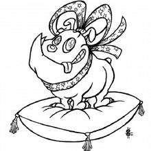 Colorear perro Bulldog - Dibujos para Colorear y Pintar - Dibujos para colorear ANIMALES - Dibujos PERROS para colorear - Dibujo para pintar PERRO BULLDOG
