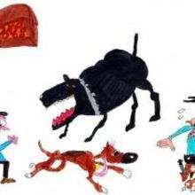 Perros malos - Dibujar Dibujos - Dibujos de NIÑOS - Dibujos de ANIMALES - Dibujos de  animales por ORDENADOR