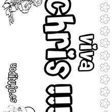 CHRIS pintar nombre niño - Dibujos para Colorear y Pintar - Dibujos para colorear NOMBRES - Dibujos para pintar NOMBRES NIÑOS