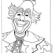 Dibujo payaso de circo - Dibujos para Colorear y Pintar - Dibujos infantiles para colorear - Circo para colorear
