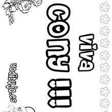 CONY colorear nombres niñas - Dibujos para Colorear y Pintar - Dibujos para colorear NOMBRES - Dibujos para colorear NOMBRES NIÑAS
