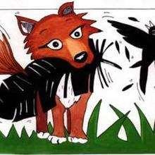 Cuervo y zorro