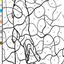Juego de pintar COCODRILO FACIL - Juegos divertidos - Juegos para IMPRIMIR - Juegos de PINTAR - Juegos de pintar ANIMALES - Juegos de pintar ANIMALES SALVAJES