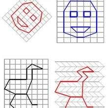 Juego de geometria CARA - Juegos divertidos - Juegos para IMPRIMIR - Juegos de OBSERVACION - Juegos de GEOMETRIA