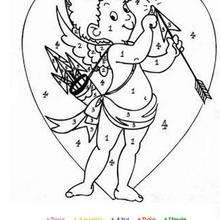 Cupido - Juegos divertidos - Juegos para IMPRIMIR - Juegos de PINTAR - Los personajes: dibujos mágicos