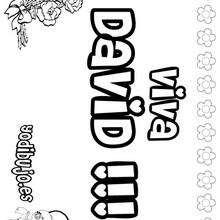 Nombre de niño para colorear : DAVID