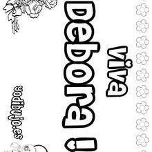 DEBORA colorear nombres niñas - Dibujos para Colorear y Pintar - Dibujos para colorear NOMBRES - Dibujos para colorear NOMBRES NIÑAS
