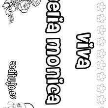 DELIA MONICA colorear nombres niñas - Dibujos para Colorear y Pintar - Dibujos para colorear NOMBRES - Dibujos para colorear NOMBRES NIÑAS