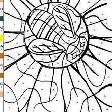 Juego de pintar FLOR - Juegos divertidos - Juegos para IMPRIMIR - Juegos de PINTAR - Juegos de colorear FLORES