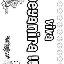 DEYANIRA colorear nombres niñas - Dibujos para Colorear y Pintar - Dibujos para colorear NOMBRES - Dibujos para colorear NOMBRES NIÑAS