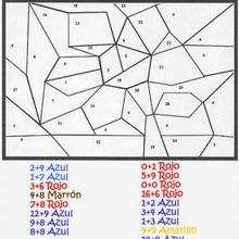 Dibujo magico calcular y colorear - Juegos divertidos - Juegos para IMPRIMIR - Juegos de PINTAR - Calcular: Dibujos mágicos