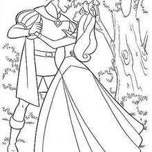 Dibujo para colorear : Aurora y el Príncipe