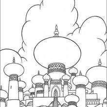 Dibujo para colorear : El Palacio oriental