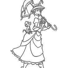 Dibujo para colorear : Jane y el Babuino Manu