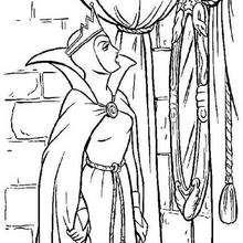 Dibujo para colorear : La Malvada Reina