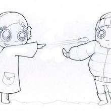 Dibujo para colorear : Las bolas de nieve