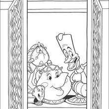 Dibujo para colorear : Las teteras y el candelabro